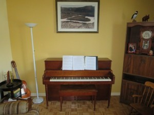 Catherine's new piano