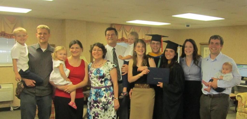 Jonathan and Heather's graduation